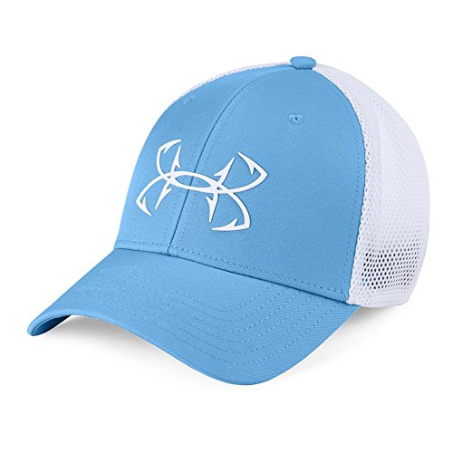 Under Armour Fish Hook 2.0 Hat, Carolina Blue (475)/White, Medium/Large ()