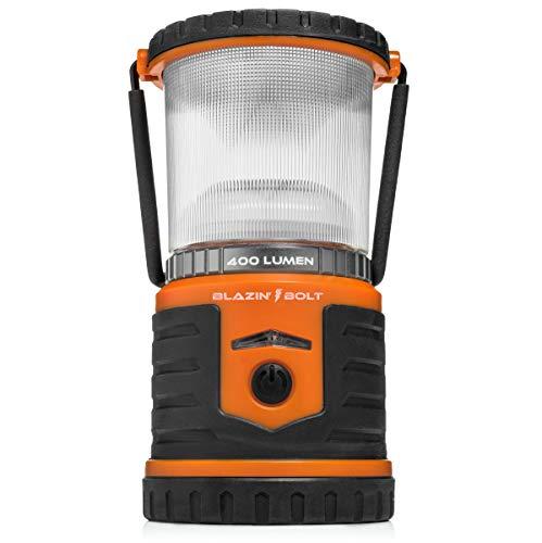 Brightest Rechargeable Lantern LED | Hurricane, Blackout, Storm | Power Bank Light | 400 Hour Runtime (Orange) ()