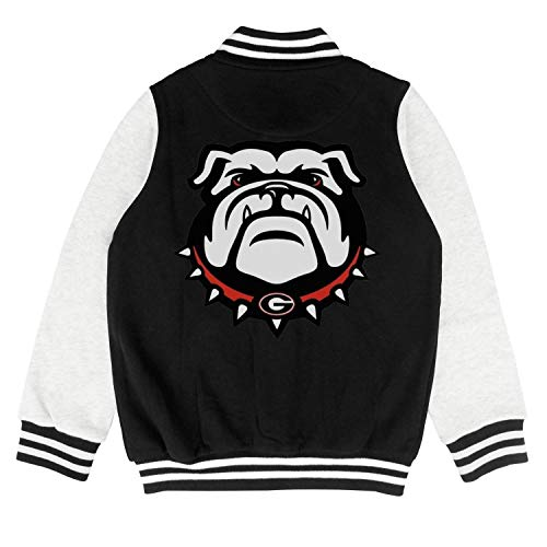 PoPBelle Kids Bulldogs Girls Letterman Jacket for Girls Boys Fashion Soft Coats]()