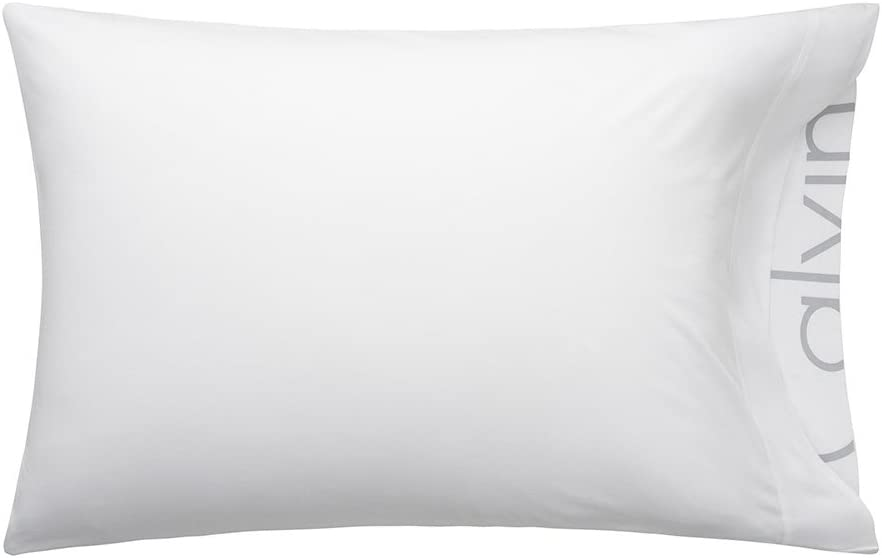 Calvin Klein Home Modern Cotton Body Pillowcase Pair, Standard, White, 2 Count