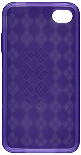 Dream Wireless Crystal Skin Case for iPhone 4/4S - Retail Packaging - Purple Checker