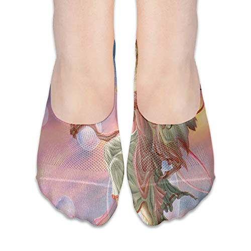 (No Show Socks Faries Magical Creatures Special Womens Low Cut Sock Boat Invisible Socks for Girl)
