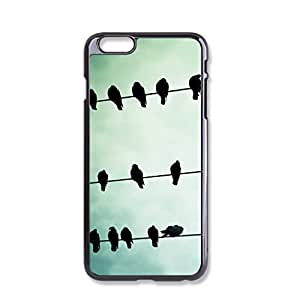 The bird Plastic Hard Case Cover Skin Protector For iPhone 6 Case Black iPhone Case by ihomegift