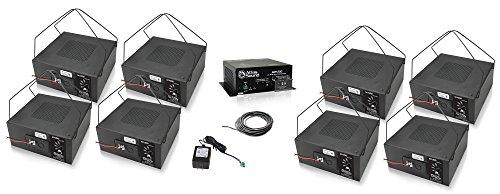 Atlas Sound M1000 8 Inch Sound Masking Speaker Bundle with Atlas Sound AM1200 Low Profile Masking System and Installation Wire - Sound Masking System (10 Items) (Black)