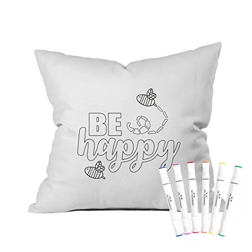 [Oh, Susannah Be Happy Coloring Throw Pillow Cover Kit (1 18 by 18 Inches) with Permanent Fabric Markers] (Animals That Start With The Letter T)