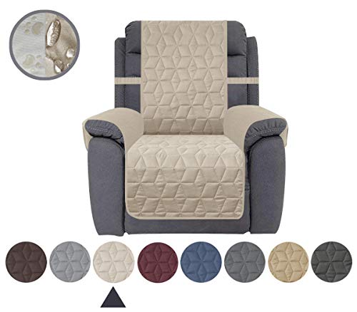 Ameritex Waterproof Nonslip Recliner Cover Christmas Decor Stay in Place, Dog Couch Recliner Cover Furniture Protector for Pets and Kids (Beige, 23