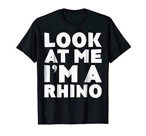 Look At Me I'm A Rhino T-Shirt Halloween Costume Shirt ()
