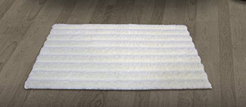 Spaces Swift Dry Cotton Bath Mat   15  x 23 , Pearl