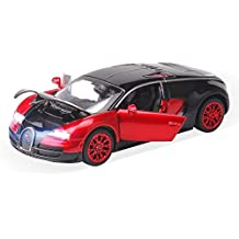 New style 1:32 Bugatti Veyron Alloy Diecast car model collection light&sound Red by ZHMY