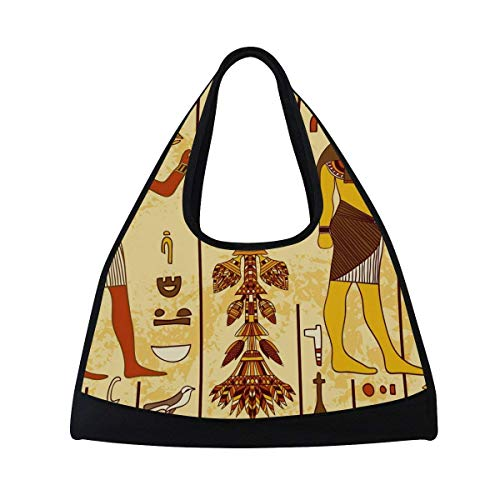 Sport Gym Bag Ancient Egypt Egyptian Character Canvas Travel