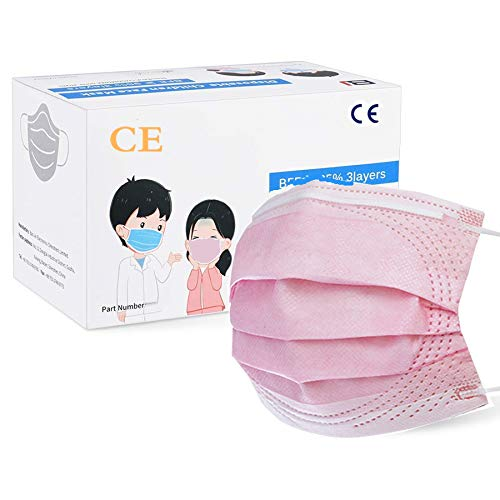 🥇 MaNMaNing Protección 3 Capas Transpirables con Elástico para Los Oídos Pack 50 unidades 20200723-MANING-NM50