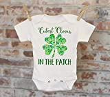 Cutest Clover St. Patrick's Day Onesie®, Cutest Clover In The Patch, St. Patty's Day, Baby Shower Gift, Boho Baby Onesie