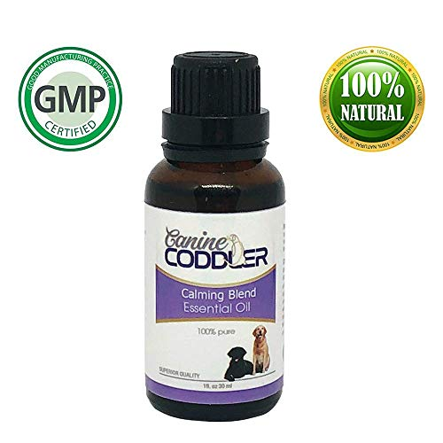 Canine Coddler Pet Anxiety Essential- Oil Aromatherapy Treatment for Dogs-Anxiety Blend-one Piece Bottle Best to Reduce Stress Separation Anxiety Ease and Calm 1 oz 30ml Bottle (Calming Blend) by Canine Coddler