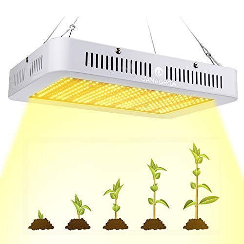 CANAGROW 1000W Full Spectrum LED Grow Light for Indoor Plants, Plant Growing Lamp with Daisy Chain Function, Sunlike 3500K Red UV&IR Light for All Growth Stage