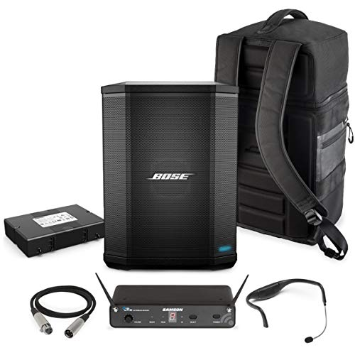 Bose S1 Pro Portable Sound System On-the-Go Fitness Training Package with Bluetooth and Sweatproof Headworn Microphone