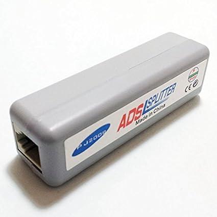CESS-rj15 RJ11 ADSL Modem Broadband Phone Line Filter Adapter Splitter - 2 PACK