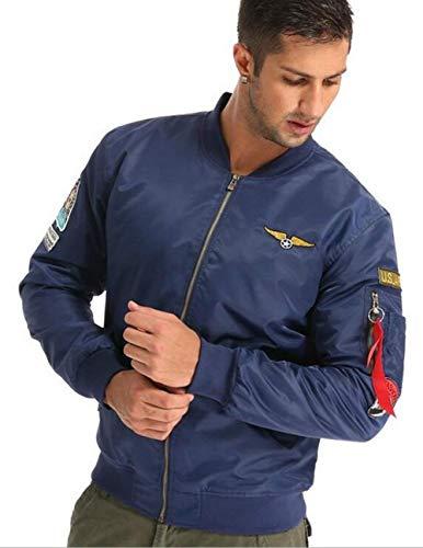 En Hombre Chaqueta Aérea Invierno Casual De Chaqueta Cuello Bombardero V Ropa Ligero Y Acolchado para con Azul Chaqueta para Otoño Fuerza Vuelo Clásica Deporte vZEwx8qH