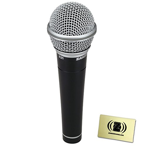 Samson SCR21S-X R21 mic with switch and 18Ft XLR cable (special with XP360B) with Polishing - Samson Vocal Dynamic Microphone