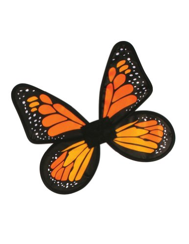 [Fun World Satin Adult Butterfly Orange Wings] (Orange Adult Butterfly Costumes)