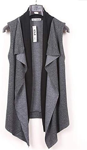 メンズ ベスト ノースリーブ カーディガン ベスト 薄手 前開き 切り替え カジュアル 袖なし ジャケット