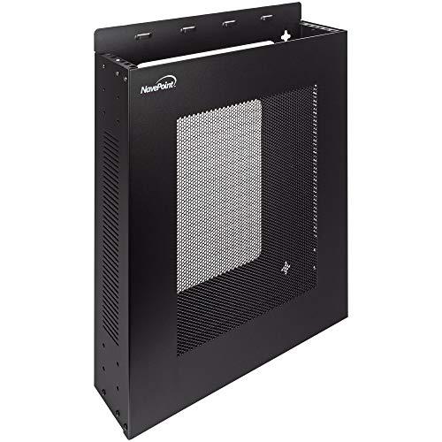 NavePoint 2U Vertical Wall Mountable Server Rack, Black
