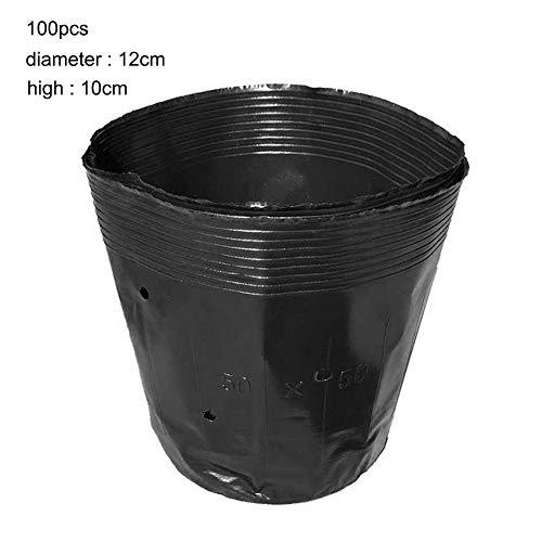 DOMO 100pcs 12 * 10cm 일회용 식물 유아 가방 일회용 화분 재생 영양 가방 까만 플라스틱 영양 화분 다 육 식물 야채 / DOMO 100pcs 12*10cm Disposable Plants Nursery Bag Disposable Flower Pots Renewable Nutrition Bag Black Plastic Nutriti...