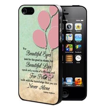 Cute Audrey Hepburn Life Quote With Vintage Pink Balloons Wallpaper IPhone 5 5s