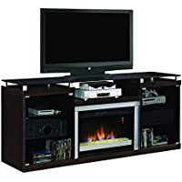 ClassicFlame 26MM9404-E451 Albright TV Stand for TVs up to 80, Espresso (Electric Fireplace Insert sold separately)