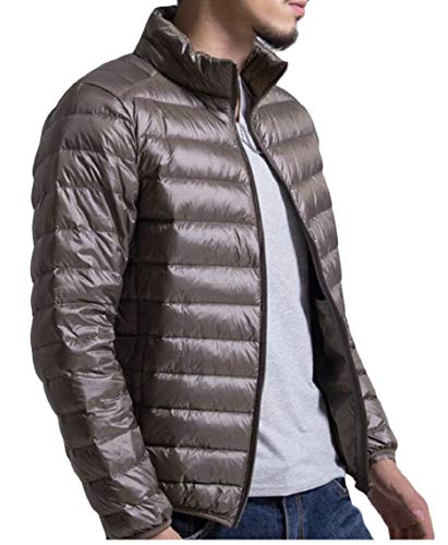 Outwear Lightweight Gocgt Packable Casual Coat Down Army Jacket Green Men's g0FgHw