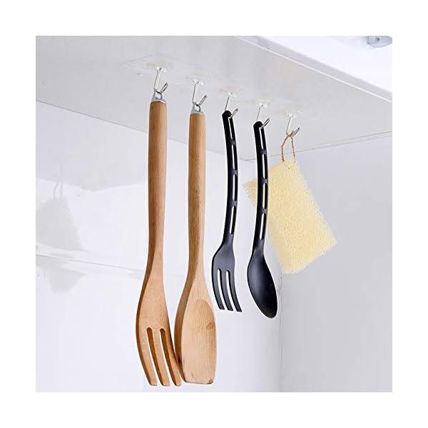 41OZUsYOYtL 30 Stücke Selbstklebende Klebehaken, MECKILY Transparente Haken, Handtuchhaken für Küche Bad Wand & Decke Aufhänger