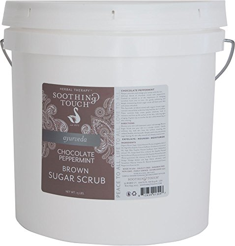 Soothing Touch Brown Sugar Scrub, Chocolate Peppermint, 15 Pound