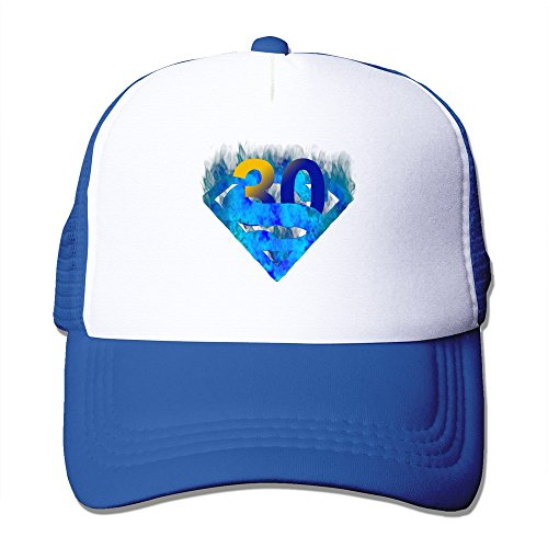 Cool Blue Flame #30 Adult Mesh Trucker Hat Cap One Size RoyalBlue
