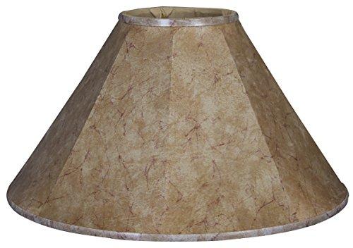 Royal Designs DBS-706-18FS Series Empire Lamp Shade, Faux Rawhide, 6 x 18 x - Shade Rawhide Faux