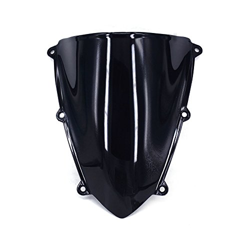 Motorcycle Black Windscreen Windshield Protector Guard Double Bubble For Honda CBR600RR 2007-2012