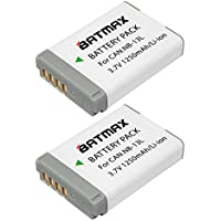 Batmax Fully-decoded 2-pack NB-13L NB 13L NB13L Batteries for Canon PowerShot G5X G7X G9X G7 X Mark II SX720 HS Digital Camera Battery