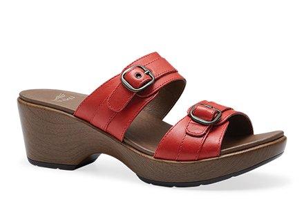 Dansko Women's Jessie Dress Sandal, Red Full Grain, 41 EU/10.5-11 M US