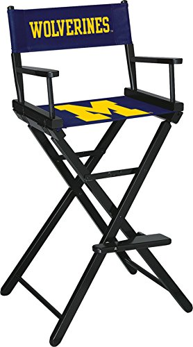 Imperial Officially Licensed NCAA Merchandise: Directors Chair (Tall, Bar Height), Michigan Wolverines by Imperial
