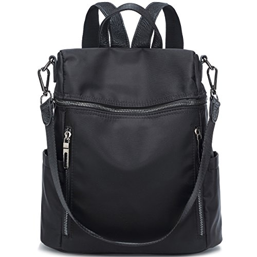 Ali Victory Basic Backpack for Women Fashion Grils College School Shoulder Bag (Black-2)