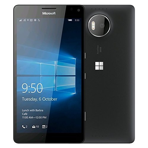 Microsoft Lumia 950, Black 32GB – GSM Unlocked – Certified Refurbished