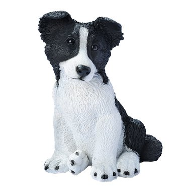 Border Collie Statue - Missy the Border Collie statue home garden dog puppy sculpture (The Digital Angel)