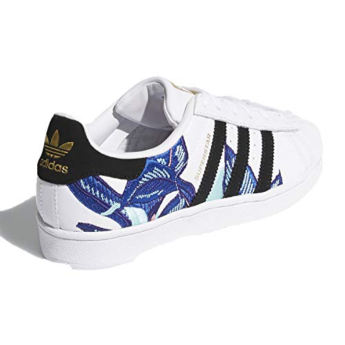 Image of the adidas Originals Women's Superstar Sneaker, White/Black/Gold Metallic, 8.5 M US