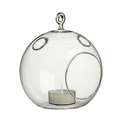 WGV Round Hanging Votive Candle Holder/Glass Orb Terrarium V