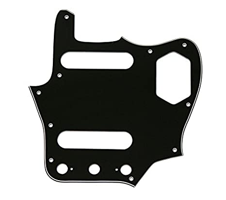 Amazon com: Jaguar guitar 62 pickguard 3ply black fits USA
