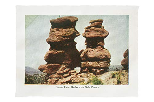 Lantern Press Colorado Springs, Colorado - Garden of The Gods; Siamese Twin Rock Formations 34868 (60x80 Poly Fleece Thick Plush Blanket)
