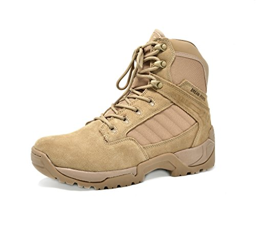 Dream Pairs Men's Pioneer Beige 6' Inches Military Tactical Work Boots - 10 M US