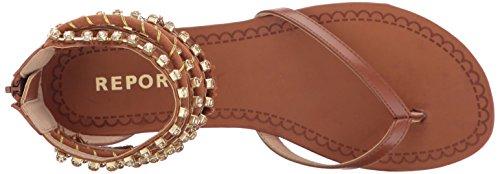 Report Women's Gentry Flat Sandal Cognac OUHZHat
