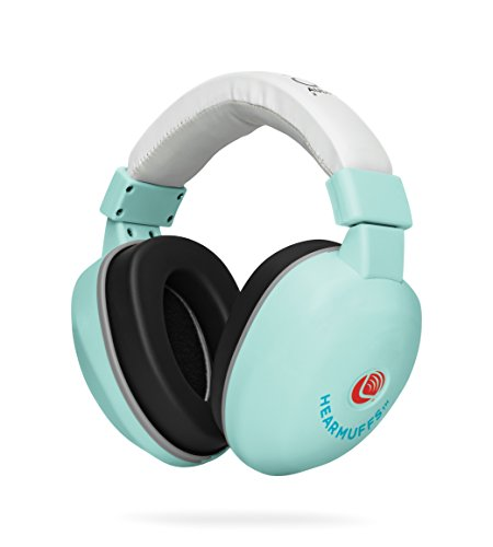 Lucid Audio HearMuffs Baby Hearing Protection (Over-the-ear Sound Protection Ear Muffs Infant/Toddler/Child) (Spa Green)