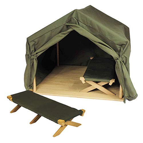 The Queen's Treasures 18 Inch Doll Furniture Dr. Goodall Inspired Gombe Research Camping Tent and Two Cots. Fits American Girl Dolls