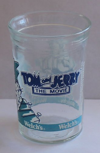Welch's Jelly/Jam Tom and Jerry The Movie Promotional Glass