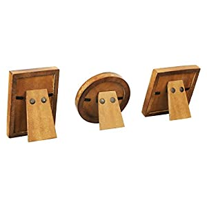 Handicrafts Home Baby Picture Frame for Newborn Girls and Boys Shower Frames Set of 3 Natural